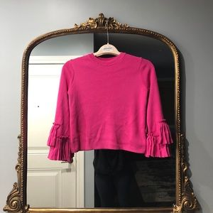 ASOS Sweater with Ruffle Sleeves